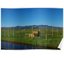Blue Stream and ranchland near Walden, Colorado Poster