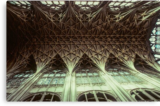 Ceiling Gloucester Cathedral 198101150032 by Fred Mitchell