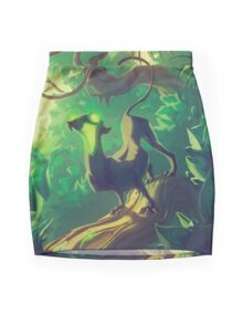 Acid Panther Illustrative Mini Skirt