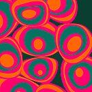 Energy spots - orange, magenta, petrol by CatchyLittleArt