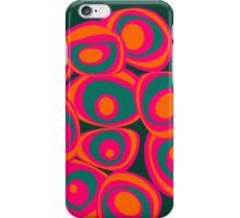 Energy spots - orange, magenta, petrol iPhone Case/Skin