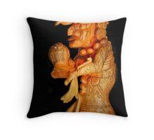 Mayan Carving Throw Pillow