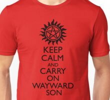 Keep Calm and Carry On Wayward Son Unisex T-Shirt