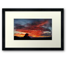 ©HCS December Red Sunset I Framed Print