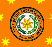 The Cherokee Nation - Flag Sticker
