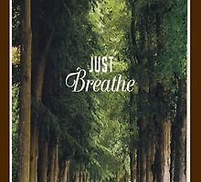 Just Breathe (Forest) - Iphone case  by sullat04