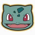 Bulbasaur Pokemon Minimal Design First Generation Sticker Shirt by Jorden Tually
