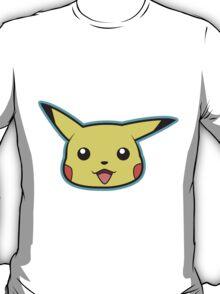 Pikachu Pokemon Minimal Design First Generation Sticker Shirt T-Shirt