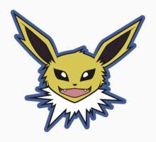 Jolteon Pokemon Minimal Design First Generation Sticker Shirt by Jorden Tually