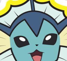 Vaporeon Pokemon Minimal Design First Generation Sticker Shirt Sticker
