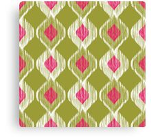 Colorful Abstract Aztec Ikat Tribal Pattern Canvas Print