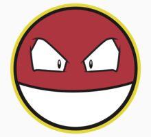 VOLTROB Pokemon Minimal Design First Generation Sticker Shirt by Jorden Tually