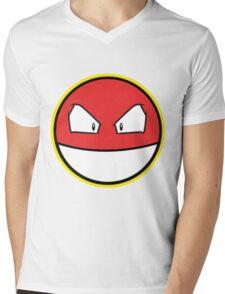 VOLTROB Pokemon Minimal Design First Generation Sticker Shirt Mens V-Neck T-Shirt