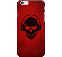 Skull with Headphones - Rave - Electro - Hardstyle iPhone Case/Skin