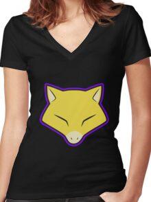 ABRA Pokemon Minimal Design First Generation Sticker Shirt Women's Fitted V-Neck T-Shirt