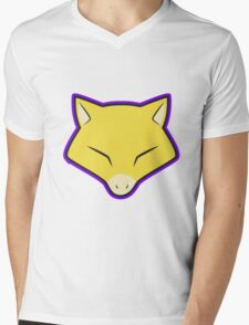 ABRA Pokemon Minimal Design First Generation Sticker Shirt Mens V-Neck T-Shirt