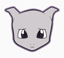 BABY MEWTWO Pokemon Minimal Design First Generation Sticker Shirt by Jorden Tually