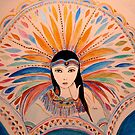 ZUNI WARRIOR WOMAN 2 by Gea Austen