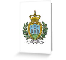 Coat of Arms of San Marino Greeting Card