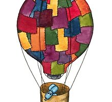 Hot Air Balloon Dog by katherinedownie