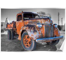 Orange Truck Poster