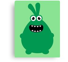 Crazy funny monsters in green Canvas Print