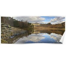 The Fence At Blea Tarn Poster