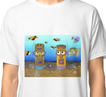 Tiki Goes Diving (pt. 2.) Classic T-Shirt