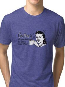 Coffee - Retro Tee Tri-blend T-Shirt