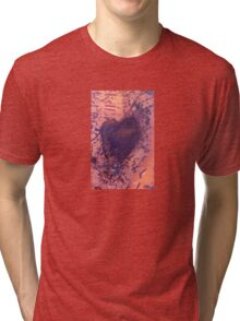 rusting metal with rusty love heart Tri-blend T-Shirt