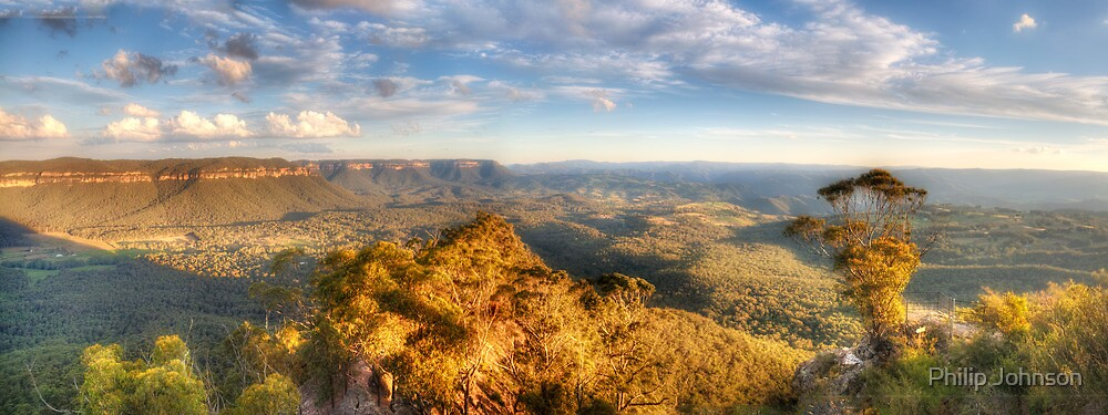 I Love Her Far Horizons - Hargraves Lookout, Blue Mountains World Heritage Area - The HDR Experience by Philip Johnson