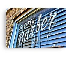 Baker barber Canvas Print