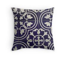 patterned tile Throw Pillow