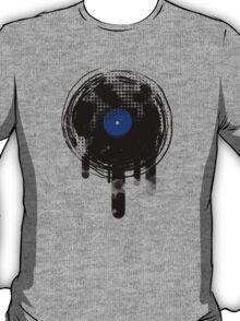 Melting Vinyl Records Vintage Blue T-Shirt T-Shirt