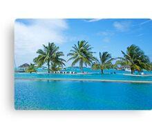 Infinity Pool on Kandooma Island Canvas Print