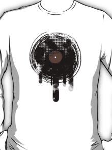Cool Melting Vinyl Records Vintage Music T-Shirt T-Shirt