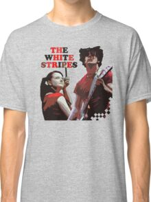 white stripes Classic T-Shirt