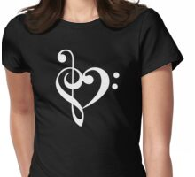 Love the music! Womens Fitted T-Shirt