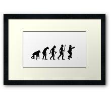 Evolution of Man - Gangnam Style Framed Print