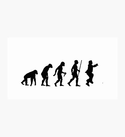 Evolution of Man - Gangnam Style Photographic Print