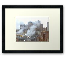 Boston. A city breathing. Framed Print