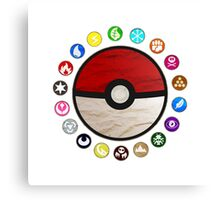 Pokemon - Pokeball Canvas Print