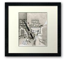 Violin and Sitting-Room Framed Print