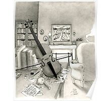 Violin and Sitting-Room Poster