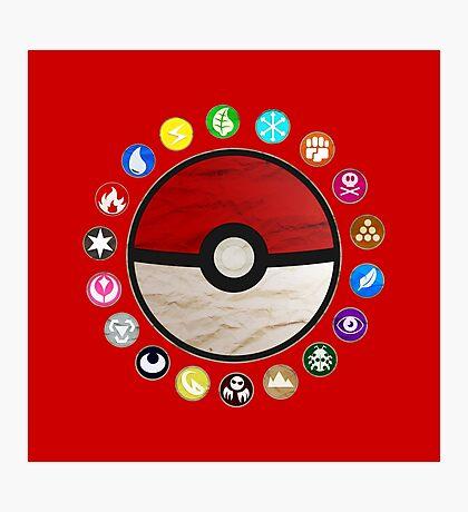 Pokemon - Pokeball Photographic Print