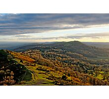 Malvern Hills, a southward view Photographic Print