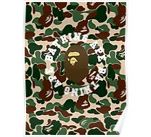 bape roundtext army Poster