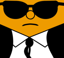 Mr. Orange (Mr. Men versus Reservoir Dogs) Sticker