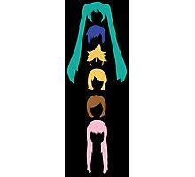 Vocaloid Heads (black) Photographic Print