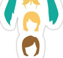 Vocaloid Heads (black) Sticker